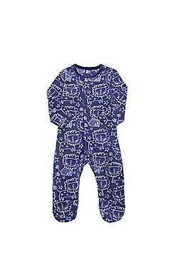 F&F Lion Print Fleece All in One - Blue