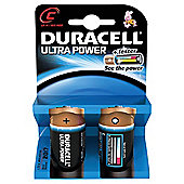 Duracell Ultra Power MX1400 Alkaline C Batteries (2 Pack)