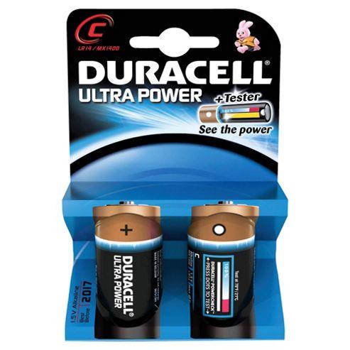 Duracell Ultra Power MX1400 Alkaline C Batteries (2 Pack)