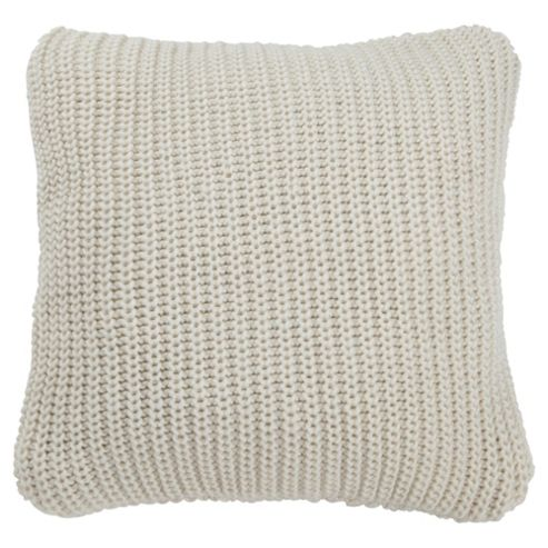 Tesco Chunky Knit Cushion Cream