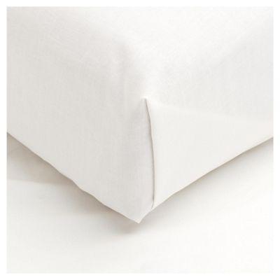 Tesco Double Flat Sheet, Cream