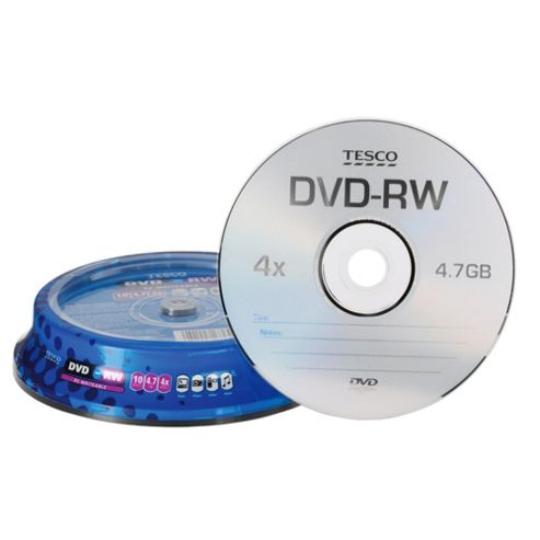 Tesco DVD-RW spindle - pack of 10