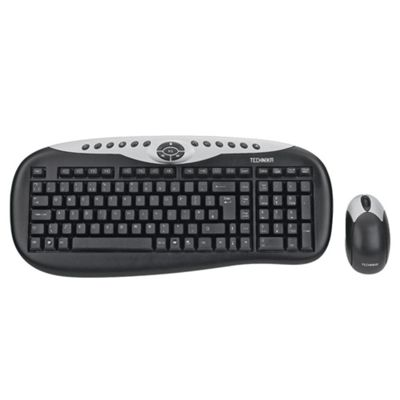 Technika 2.4 GHz Wireless Deskset (Keyboard and Optical Mouse)