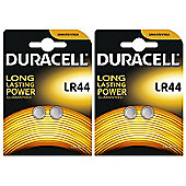 4 x Duracell LR44 1.5V Alkaline Button cell Batteries LR44 A76 AG13 357 SR44