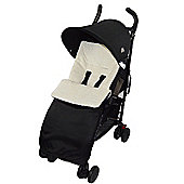 Marshmallow Super Soft Footmuff To Fit Silver Cross Cosy Toes Pushchair - Cream