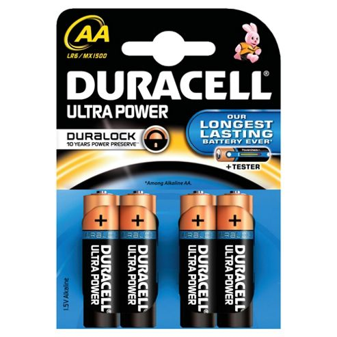 Duracell Ultra Alkaline AA Batteries Pack of 4