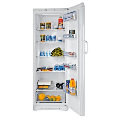 Indesit SAN400 Tall Larder Fridge, Capacity 348 Litres, Energy Rating A, Width 60.0cm. White