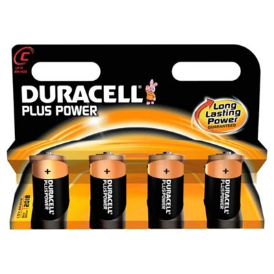 Duracell Plus 4 Pack C Batteries