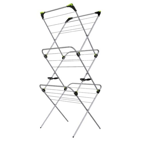Minky 3 Tier 21M Indoor Clothes Airer With Flip Outs