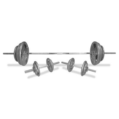 Body Power 100Kg 5FT Tri-Grip SPINLOCK Weight Set With 2 Piece Solid Bar