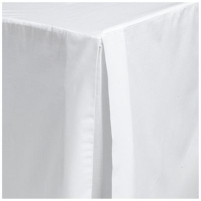 Tesco Double Valance Sheet, White
