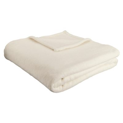 F&F Home Super Soft Throw - Cream