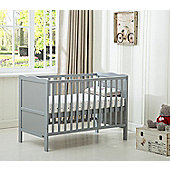Orlando Cot bed/Cotbed Water With Free Water Repellent Mattress (Grey)