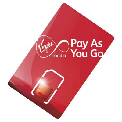 Virgin Media Pay as you go SIM Card