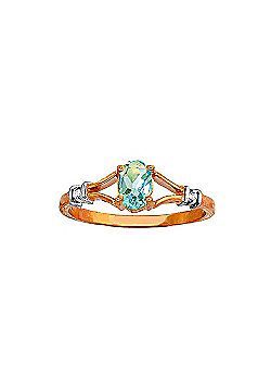 QP Jewellers Diamond & Blue Topaz Aspire Ring in 14K Rose Gold