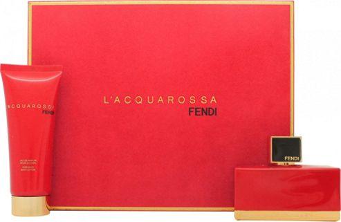Fendi L'Acquarossa Gift Set 75ml EDP + 75ml Body Lotion For Women