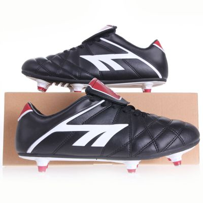 Hi-Tec League Pro Screw-in Junior Football Boots Black/White/Red Size 13