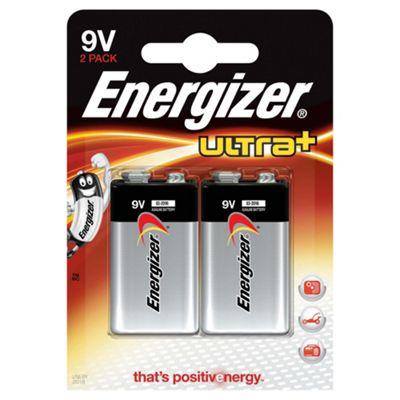 Energizer Ultra+ 2 Pack 9V batteries