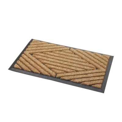 Tesco Heavy Duty Outdoor Coir And Rubber Mat 45x75cm