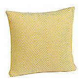 Homescapes Cotton Yellow Halden Chevron Cushion Cover, 45 x 45 cm