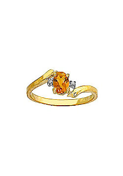 QP Jewellers Diamond & Citrine Embrace Ring in 14K Gold