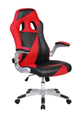 Red And Black Triangles Racing Office Chair