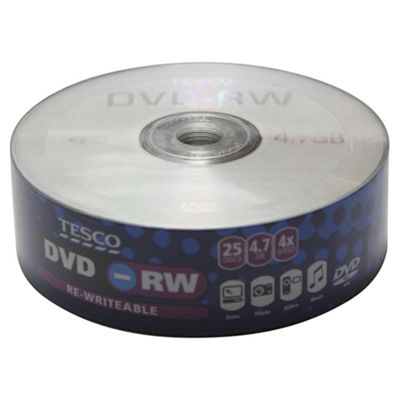 Tesco DVD-RW - pack of 25