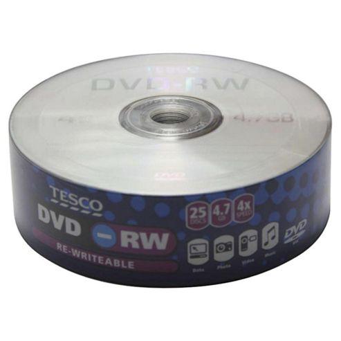 Tesco DVD-RW - pack of 25