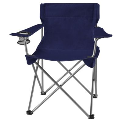 Tesco Navy Blue Folding Camping Chair
