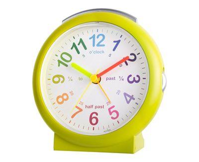 Acctim LuLu Time Teaching Alarm Clock - Color: Green