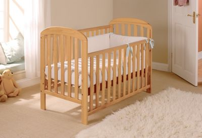 East Coast Anna Drop Side Cot, Antique Finish