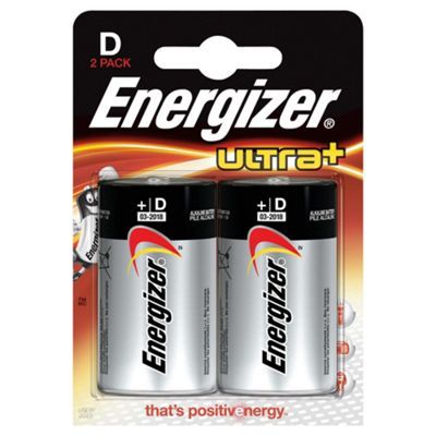 Energizer Ultra+ D 2 Pack Batteries