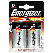Energizer Ultra+ D 2 Pack Batteries