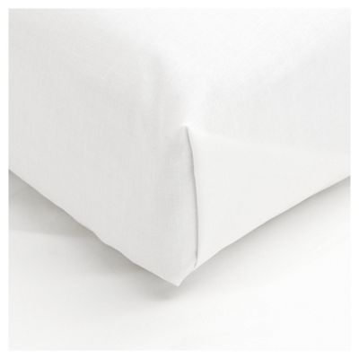 Tesco Double Flat Sheet, White