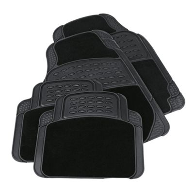 Tesco Car Mats, 4 Set (Rubber-Carpet)
