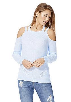 F&F Cold Shoulder Jumper - Light blue