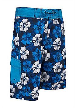 Boys Hawaiian Boardshorts - Blue