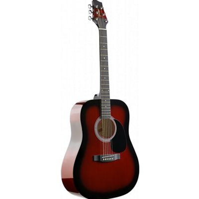 Stagg SW201 Dreadnought Acoustic Guitar - Redburst