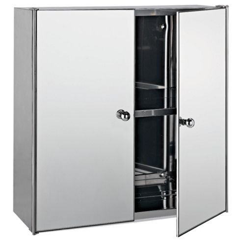 tesco direct bathroom cabinets buy stainless steel mirrored door bathroom cabinet 20783