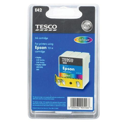Tesco E42 Colour Printer Ink Cartridge - Tri-Colour