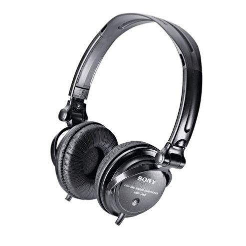 Sony MDR-V150 Headphones with DJ Reversible Earcups - Black