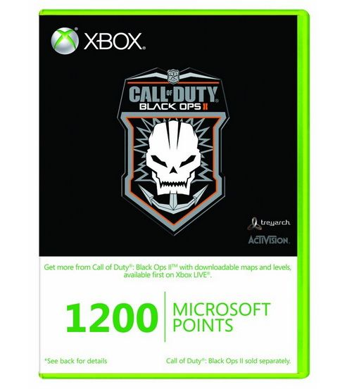 Xbox Live - 1200 Microsoft Points - Call of Duty : Black Op's branded