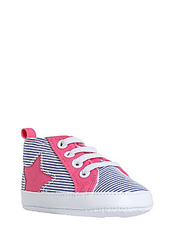 F&F Striped and Star High Top Trainers - Multi