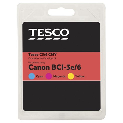 Tesco C103 Colour Printer Ink Cartridge multipack (Compatible with printers using Canon BCI-6 Cartridge)