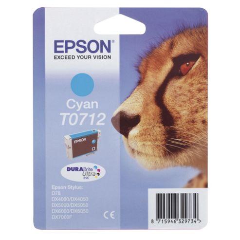 Epson Singlepack Cyan T0712 DURABrite Ultra Ink
