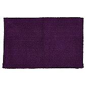 Hygro Cotton Purple Reversible Bath Mat