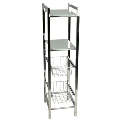 Buy Lincoln Chrome Storage Tower With 2 Baskets & 2 Frosted Gl ... on houzz bathroom storage, modern bathroom storage, armoires bathroom storage, rolling bathroom storage, black bathroom storage, silver bathroom storage, stainless steel bathroom storage, oxford bathroom storage, traditional bathroom storage, cabinets over toilet bathroom storage, tall thin bathroom storage, large bathroom storage, creative bathroom storage, small bathroom storage, narrow bathroom storage, portable bathroom storage, undercounter bathroom storage, slender bathroom storage, bathroom product storage, chrome bathroom storage,