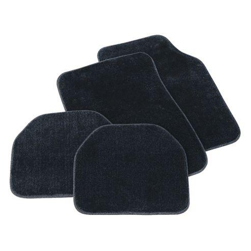 Tesco Car Mats 4 Set Luxury Carpet Black