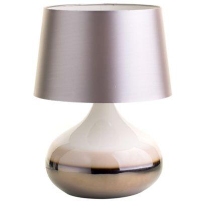 Litecraft Tara ceramic table lamp Stone