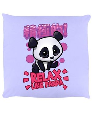 Handa Panda Relax Like Panda Cushion 40 x 40cm, Lilac